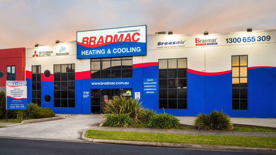 bradmac showroom external view of building